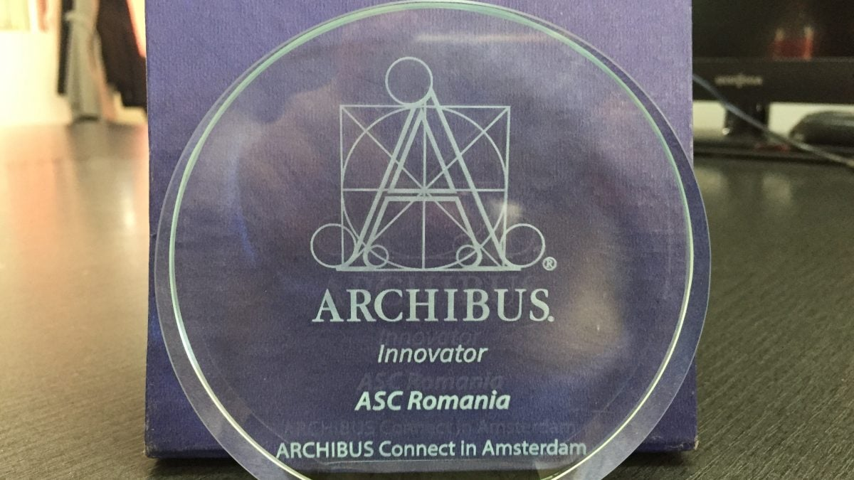 Premiu pentru inovatie ARCHIBUS Solution Center - Romania, Amsterdam 2018